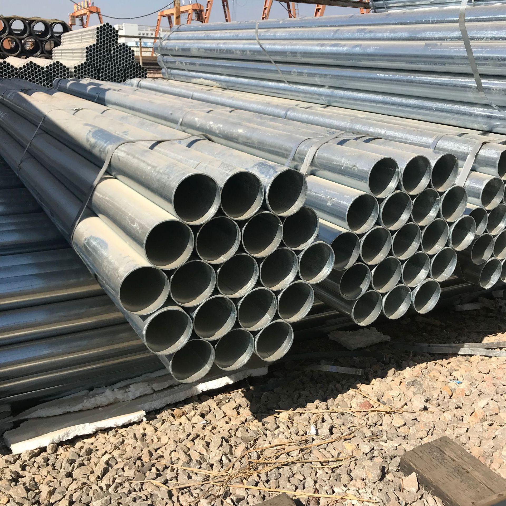 Ống thép Giá ống thép DN125 cho lan can của đường cao tốc Côn Minh 140mmx5.5x6000 ống mạ kẽm chống c