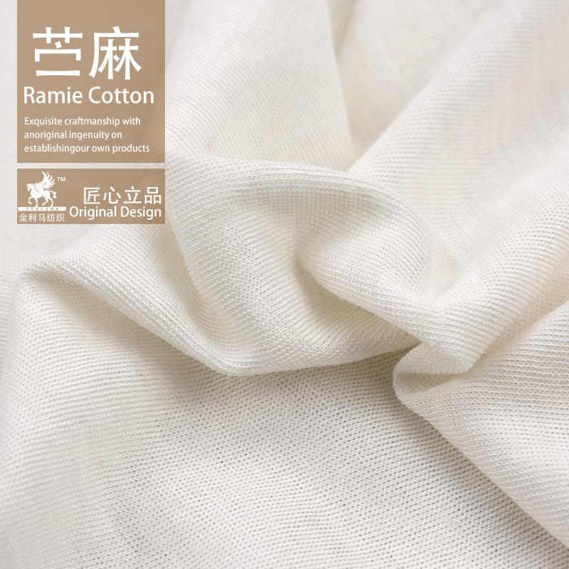 JINLIMA Vải Hemp ( Ramie) Ramie vải jersey vải cotton bán buôn mùa hè phụ nữ áo sơ mi vải mềm nhà má