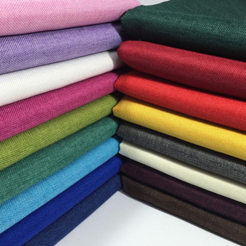 Vải Linen Cát phát hành cation giả vải lanh lanh vải lanh mịn vải polyester kỹ thuật chống mặc thoải
