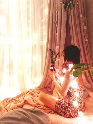 Xiang Yifang Đèn trang trì  Rèm cửa lưới màu đỏ đèn nhấp nháy đèn chuỗi chuỗi đèn Ngày Valentine tra