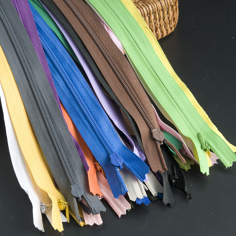 VAB Dây kéo Nylon Số 3 nylon dây kéo vô hình Nhiều màu gối phụ kiện may mặc nylon dây kéo quần áo bả