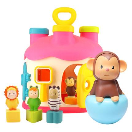 Hộp Đồ chơi con lật đật cho bé gồm 6 mặt .