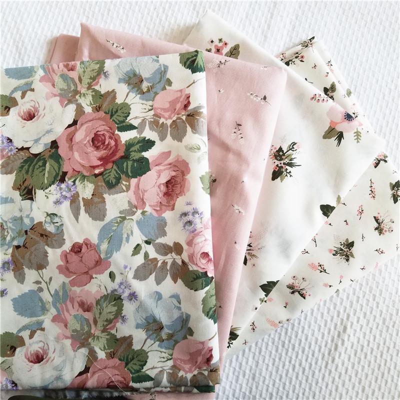 Vải Chiffon & Printing Phong cách mục vụ in vải hoa nhỏ, vải bông chéo vải, vải thủ công tự làm