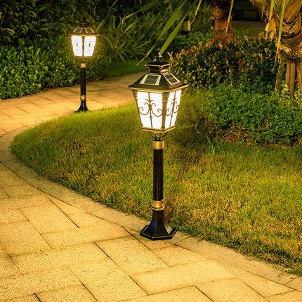 Akima Đèn LED thảm cỏ Solar Garden Garden Light Ánh sáng ngoài trời không thấm nước Đèn đường Châu Â