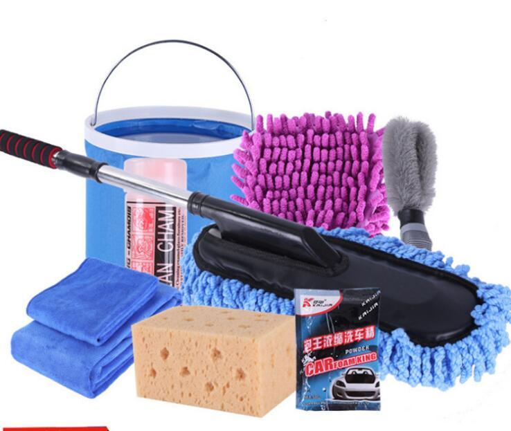 Bộ dụng cụ rửa xe kết hợp hộ gia đình đầy đủ bộ dụng cụ vệ sinh nội thất Khăn lau xe lau bụi