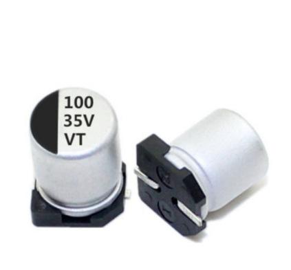 JGLCON Tụ hoá Tụ điện điện phân nhôm SMD 35v100uf 6.3x7.7 tụ điện chất lượng cao mới