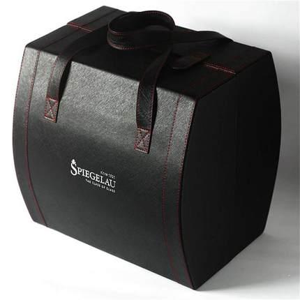 spiegelau Hộp da  Lafite hộp rượu vang hộp thủy tinh hộp da đôi chi nhánh 4 6 hộp quà tặng đóng gói