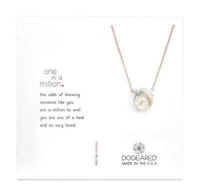 Dogeared đồ trang trí trang phục Dorje Ngọc trai nước ngọt xương đòn Vòng cổ vàng hồng với ngọc trai