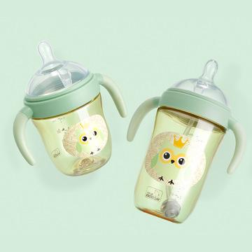 VALUEDER bình sữa Willem Dyer Baby Wide mouth PPSU Chai 270ml Có tay cầm Rơm chống ngã cho bé Bình s