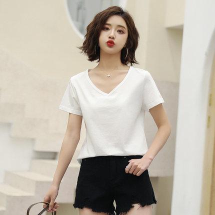 Goldfarm Thời trang nữ Gao Fan 2020 mùa xuân mới của phụ nữ đơn giản cotton trắng thoải mái ngắn tay