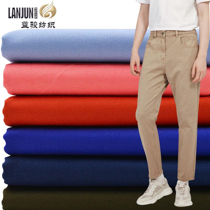 LANJUN V ải Twill Combed cotton twill sợi thẻ chà nhám vải tie nhuộm nhuộm đầy đủ quy trình tại chỗ