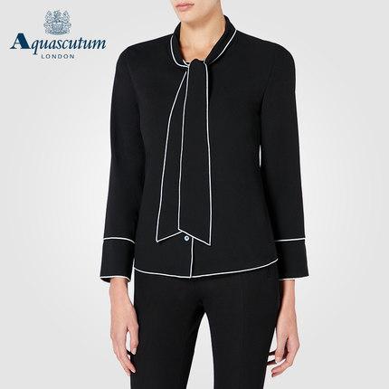 Aquascutum áo thun / Yage Shidan Lady áo sơ mi dài tay nữ thắt nơ mùa thu