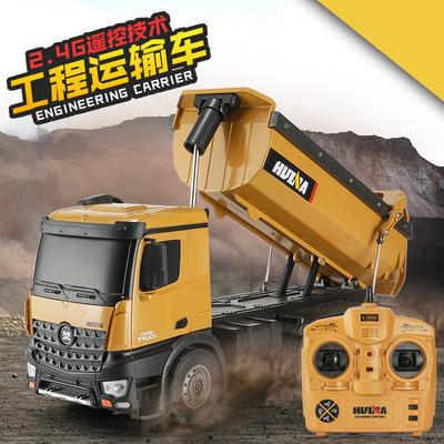 HUI NA TOYS Xe điều khiển từ xa Huina 10 kênh 2.4G điều khiển từ xa xe tải bụi bẩn xe tải đổ xe tải