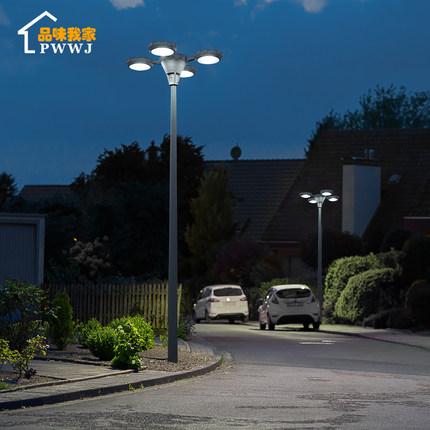 Đèn LED sân vườn Đèn sân vườn năng lượng mặt trời 3 mét ngoài trời không thấm nước nhà cao cực ngoài