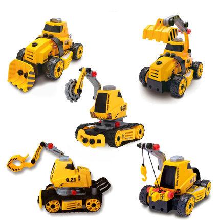 Đồ chơi trẻ em lắp ráp tháo gỡ mô hình xe cần cẩu xe tải cho bé .