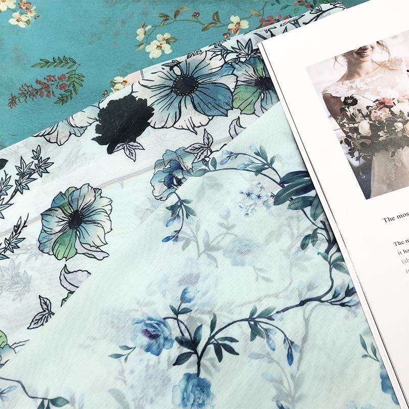 Vải Chiffon & Printing Tùy chỉnh vải in kỹ thuật số, vải dệt polyester, vải voan ngọc trai