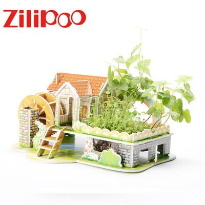 ZHILIBAO Tranh xếp hình 3D Nhà sản xuất câu đố ghép hình 3d ba chiều trẻ em bán buôn, DIY giấy ba ch