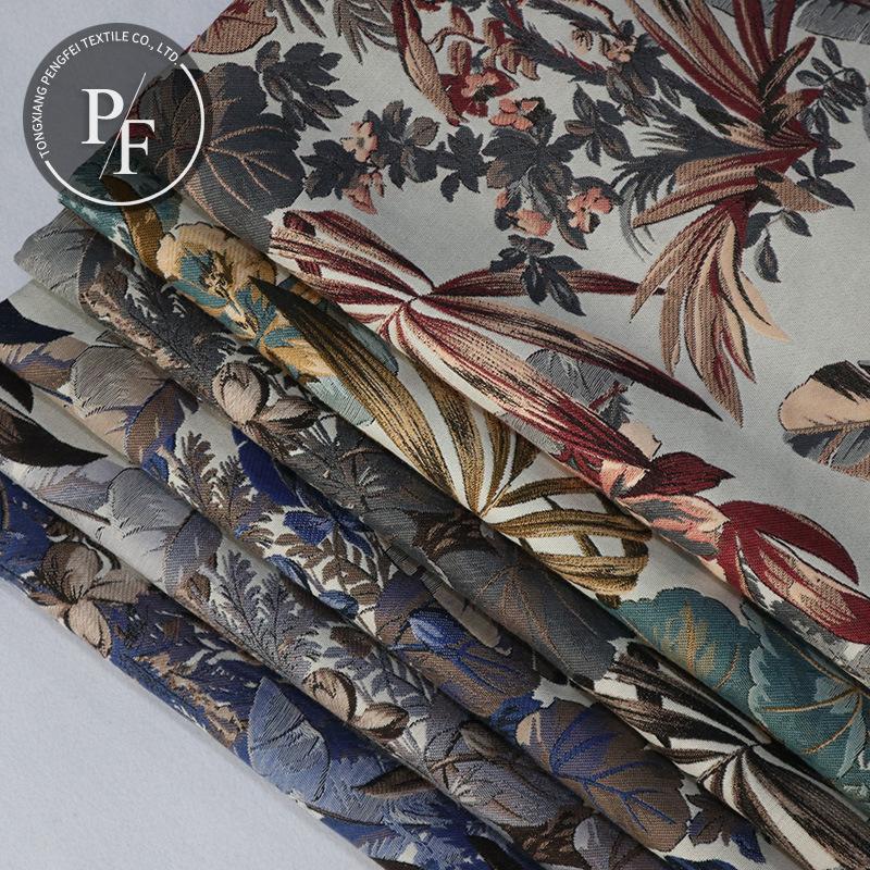 BULAIQI Vải Yarn dyed / Vải thun có hoa văn Nhà máy ngoại thương bán buôn bán trực tiếp lá tự nhiên