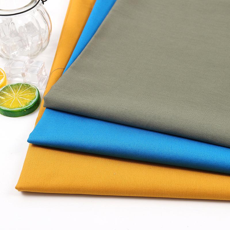 V ải Twill Cotton sợi công cụ may mặc vải nam và nữ mùa xuân và mùa hè thời trang giản dị mặc quần á