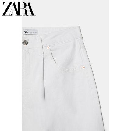 ZARA quần Jean  new TRF quần jean nữ cạp cao đã giặt 06688049250