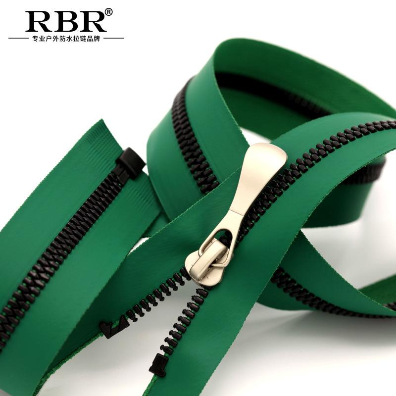 RBR Dây kéo nhựa Nhựa ngoài trời chuyên nghiệp Phim màu Hàn Quốc dây kéo không thấm nước 3 # 5 # 8 #