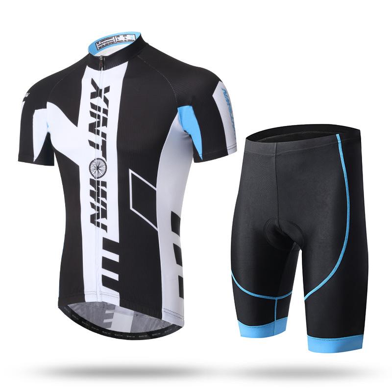 XINTOWN Trang phục xe đạp bộ đồ đi xe đạp ngắn mùa hè mới tay áo ngắn phù hợp với loại bánh xe đạp n