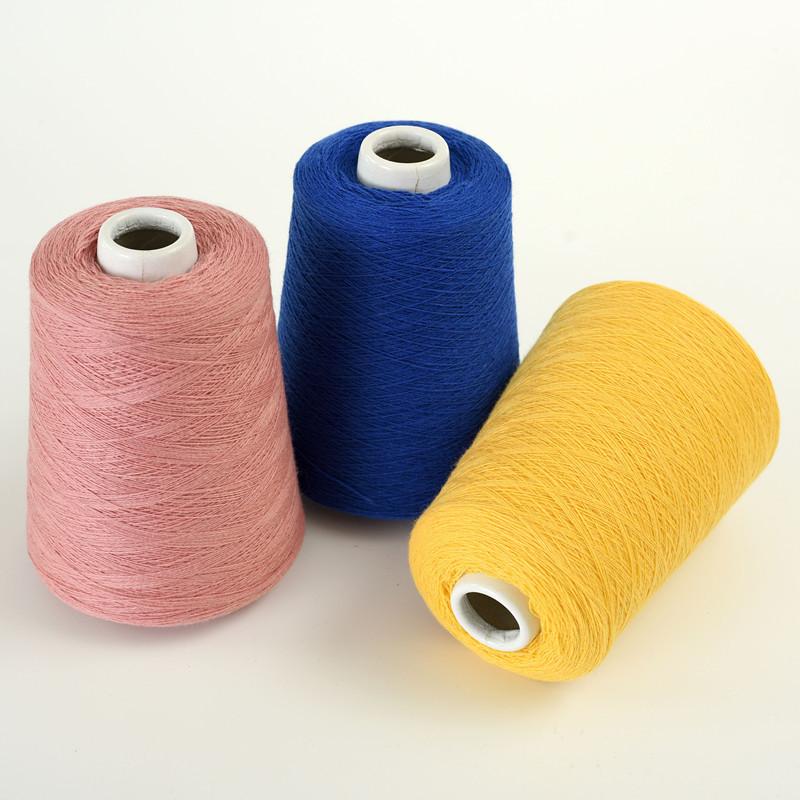 HENGAI Sợi hoá học Các nhà sản xuất bán buôn sợi cashmere pha trộn 35% cashmere, sợi dệt cashmere dệ