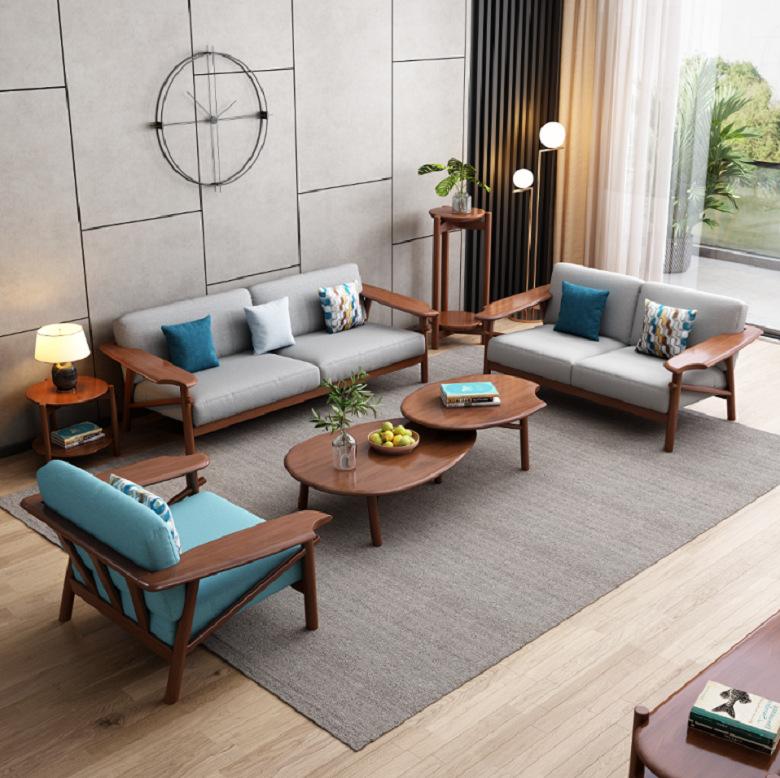 Nội thất Sofa bằng gỗ phong cách Bắc Âu cho căn hộ .