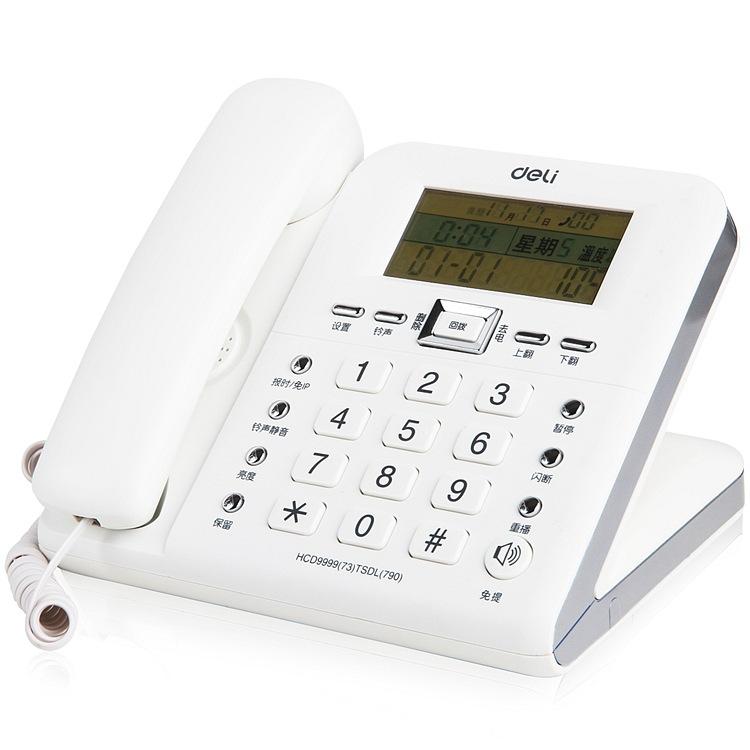 Điện thoại cố định điện thoại cố định nhà văn phòng hiển thị nhiệt độ nghiêng 30 °