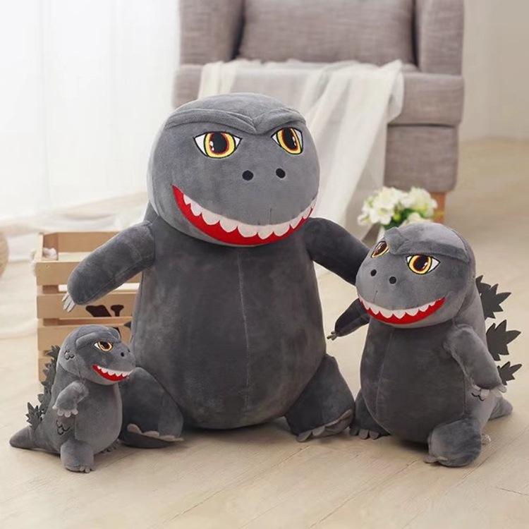 CZY Búp bê vải Dễ thương búp bê Godzilla khủng long nhỏ quái vật đồ chơi sang trọng rag búp bê lớn b