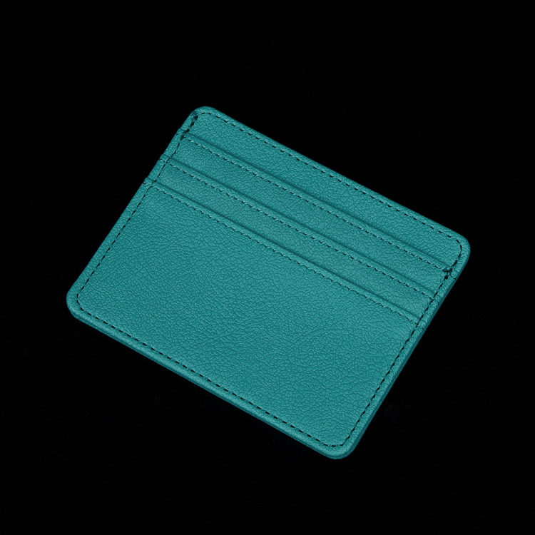 BAIMEI Ví đựng thẻ Thẻ gói bộ thẻ điểm bán buôn sáng tạo PU doanh nghiệp nam và nữ mẫu thẻ gói nhiều