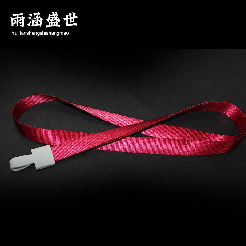 YHSS dây đeo Nhà sản xuất tùy chỉnh khóa nhựa dây buộc đôi khóa dây triển lãm dây buộc huy hiệu dây
