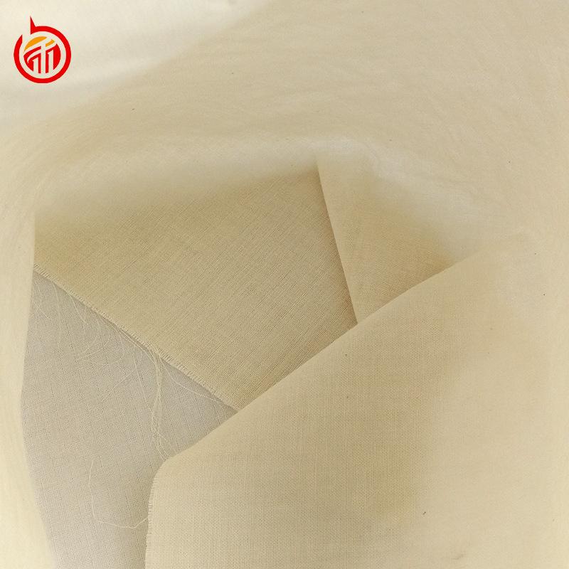 BANHE vải mộc Bông gạc hai lớp tinh khiết vải xám bán trực tiếp mật độ cao cotton trắng phôi vải bé