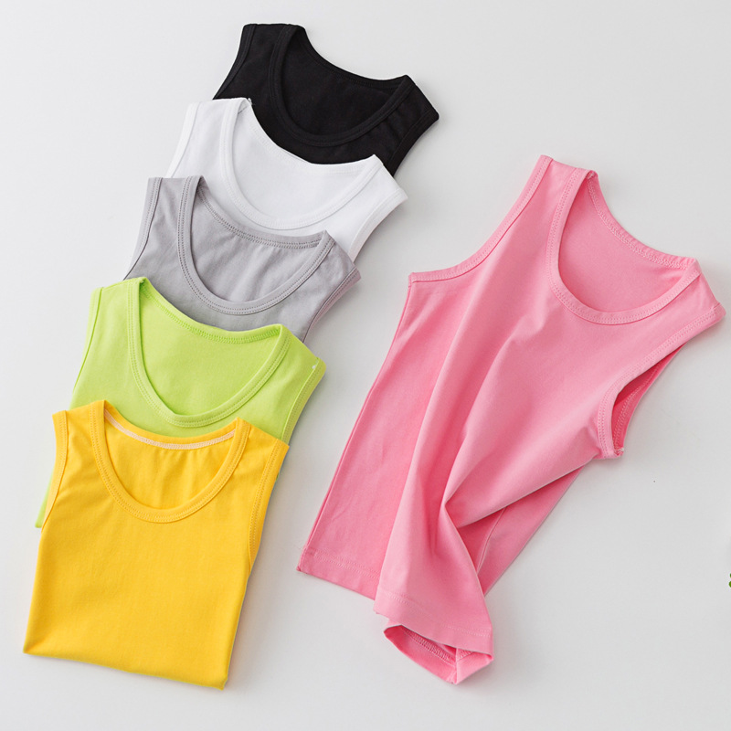 Áo ba lỗ / Áo hai dây trẻ em Bộ vest trẻ em mới trong môn thể thao dành cho trẻ em lớn Lycra sling ủ