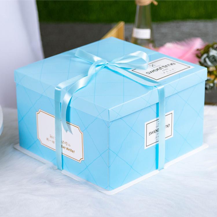YOUAI NLSX bao bì In logo miễn phí bán buôn bao bì bánh ba trong một hộp bánh sinh nhật một lớp bao