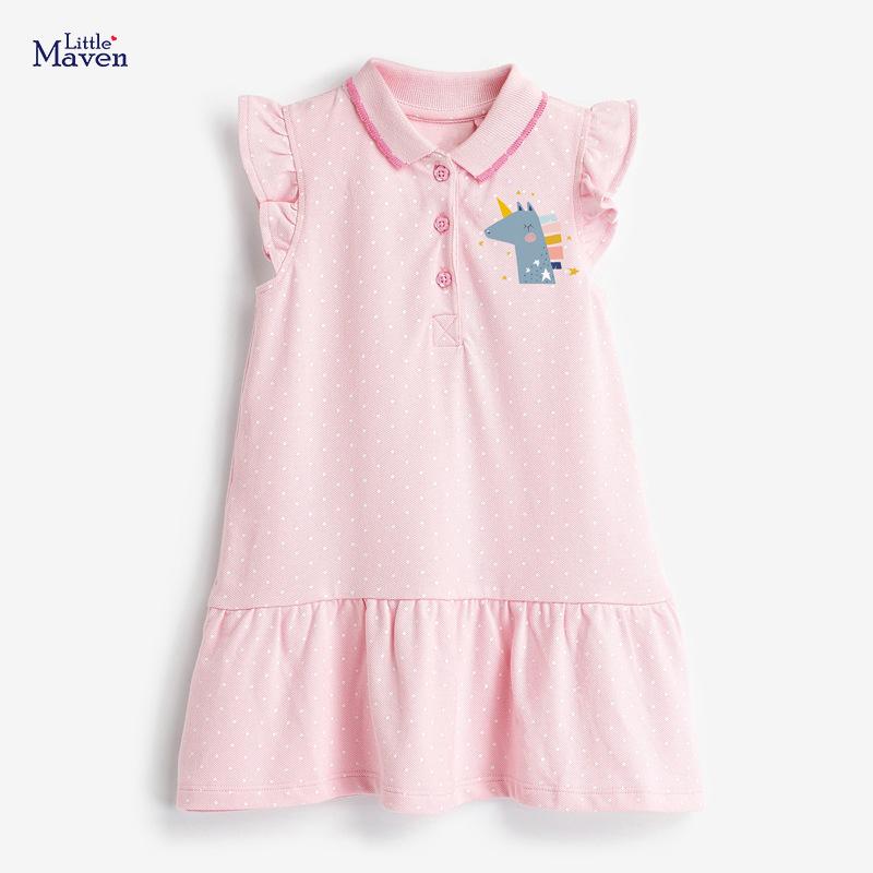 Littlemaven Âu Mỹ Váy trẻ em mùa hè của Littlemaven không tay Váy trẻ em châu Âu và Mỹ