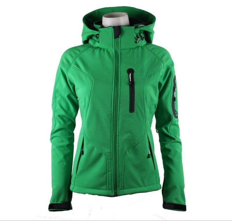 Lót nỉ Soflshell Áo khoác lông cừu mềm mại cho phụ nữ áo khoác chống gió và không thấm nước mùa thu