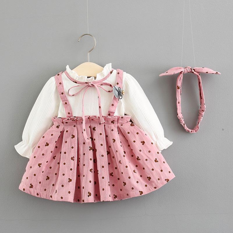 Phong cách Hàn Quốc Bán buôn quần áo trẻ em hàn quốc 2018 mùa thu mới cho bé gái váy công chúa gửi t