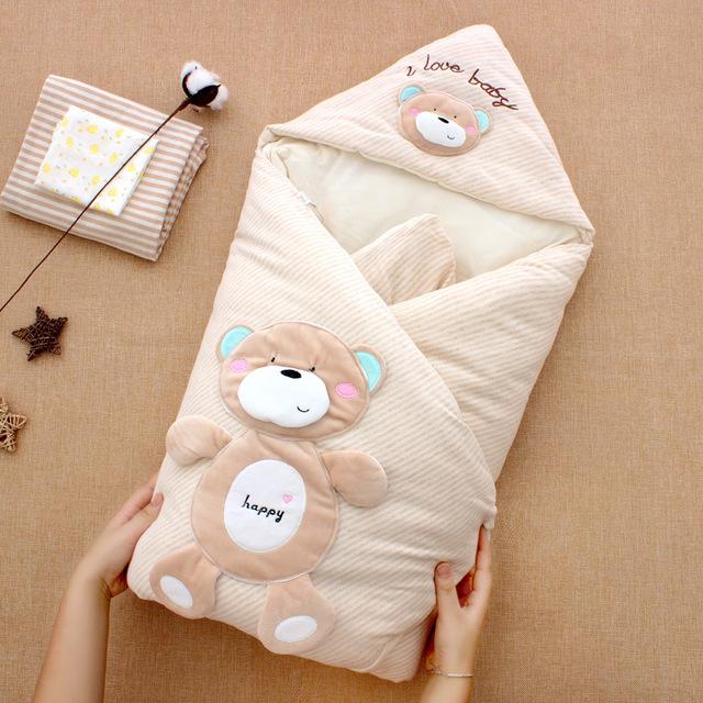TANGMISHU Đồ dùng sơ sinh Chăn bông màu cho bé dày vào mùa thu đông, có thể tách rời, túi mật đôi, d