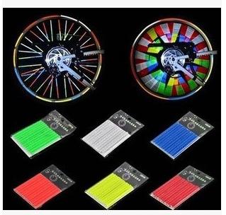 Xe một bánh tự cân bằng Màu nan hoa xe đạp dải phản quang màu phản chiếu nan hoa nóng bánh xe dây th