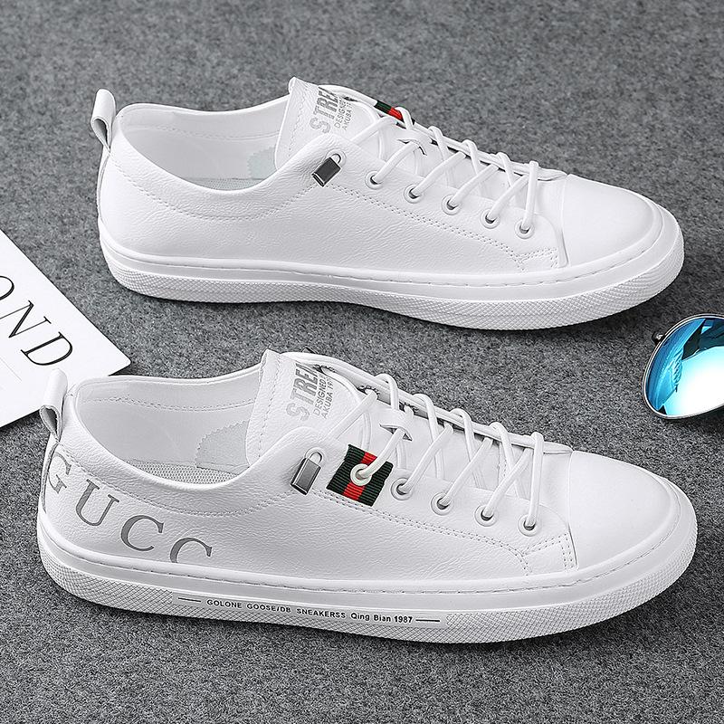 Giày Sneaker / Giày trượt ván Giày nam mùa xuân và mùa thu mới Giày nam bình thường Phiên bản Hàn Qu