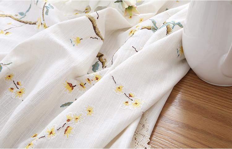 Thi vải bông Trung Hoa và Linen Bàn, chăn cừu, vườn nho nhỏ, khăn trải bàn, hình chữ nhật.