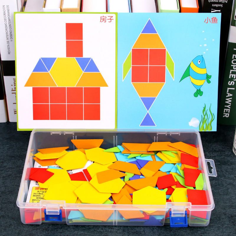 OUYI Xếp hình 3D bằng gỗ Giáo dục mầm non bằng gỗ đa chức năng sáng tạo câu đố câu đố 1-2-3 tuổi nhậ
