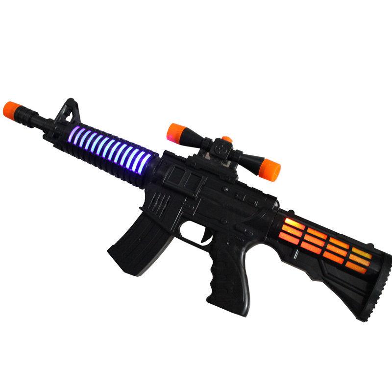 SUFAN Súng giả 2018 điểm mới trẻ em phát sáng đồ chơi súng điện âm nhạc mô phỏng M4A1 mô hình quà tặ