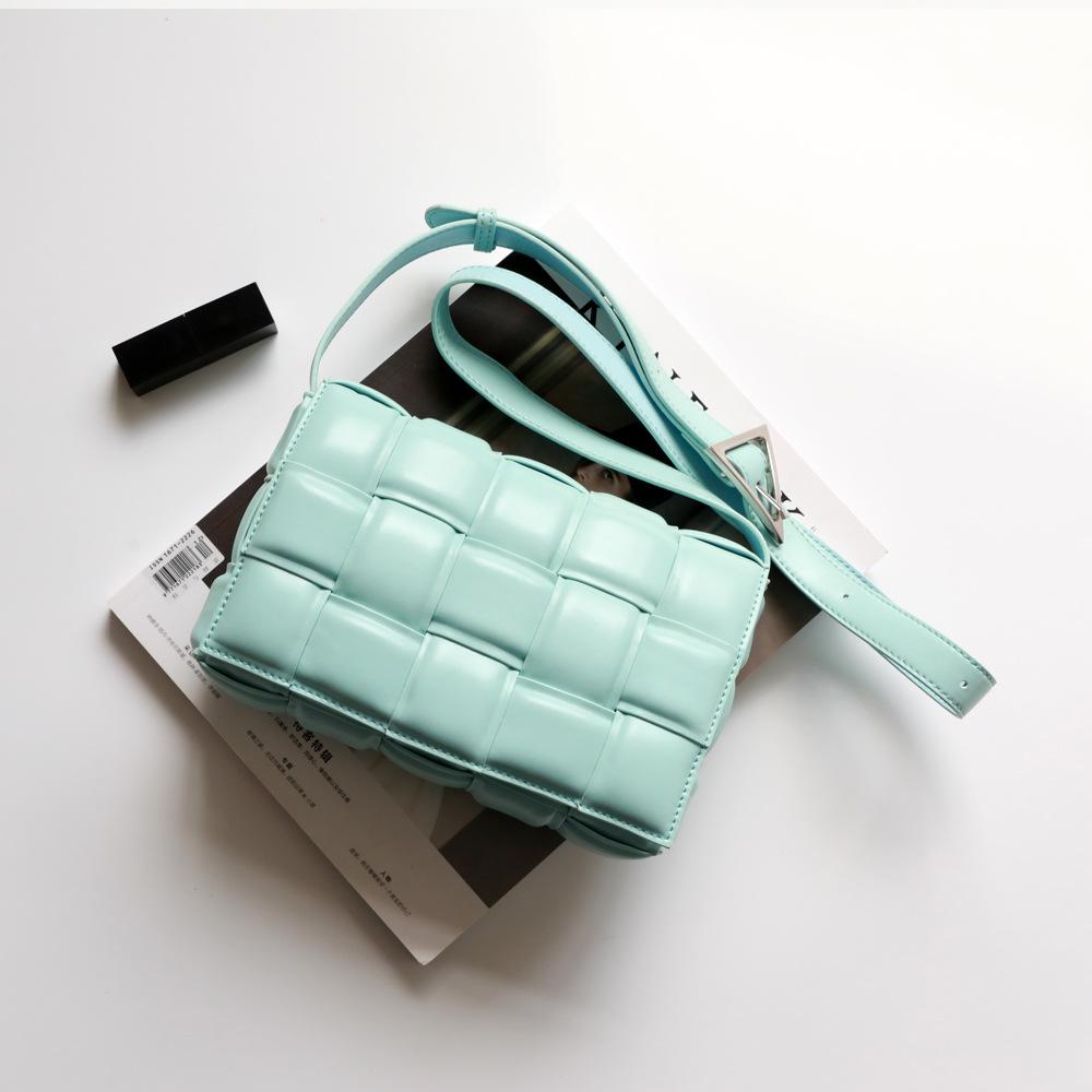 BAFUNAI Túi xách nữ thời trang 2020 túi xách CASSETTE mới PADDED khâu dệt túi vuông nhỏ lưới da túi