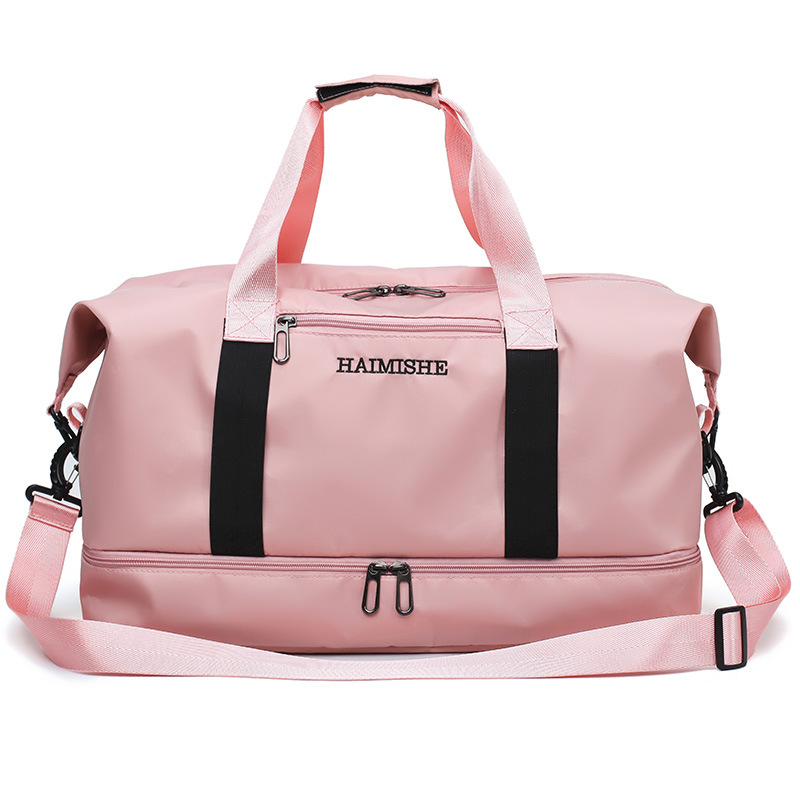 Túi xách du lịch Túi du lịch túi ngắn khoảng cách hành lý xách tay khô và ướt tách dung lượng lớn th