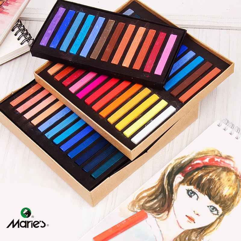 Marie's Đồ mỹ nghệ Marley thương hiệu phấn màu 12 màu 24 màu 36 màu 48 màu phấn nghệ thuật đặc biệt