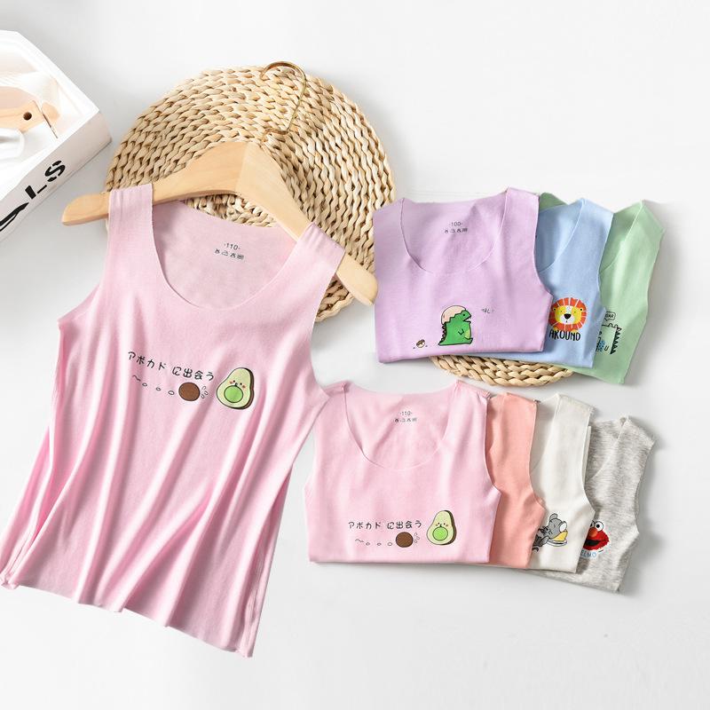 Áo ba lỗ / Áo hai dây trẻ em Quần áo trẻ em 2020 hè trẻ em mới modal vest bé trai liền mạch không ta
