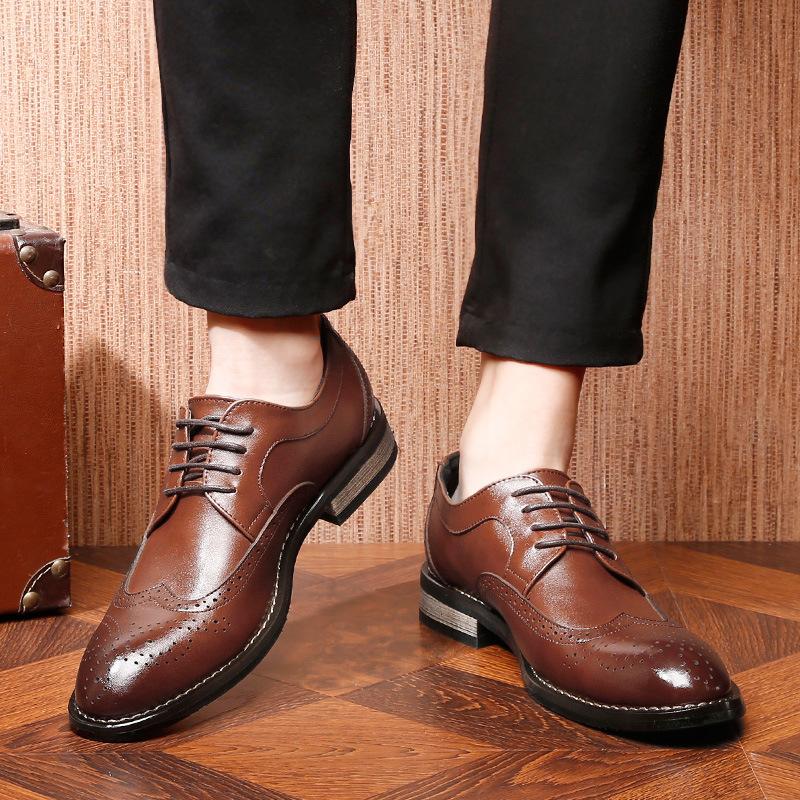 Giày da 2020 xuyên biên giới cỡ lớn 47 giày nam công sở 45 Brock England khắc da 48 giày thủy triều