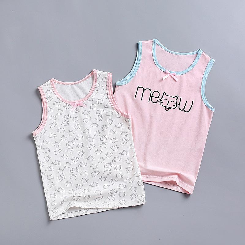 Áo ba lỗ / Áo hai dây trẻ em Mùa hè 2020 áo mới cho bé gái, áo yếm, cotton nhỏ cho trẻ em Hàn Quốc